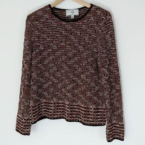 St John Sport Wool Blend Textured Pullover Sweater